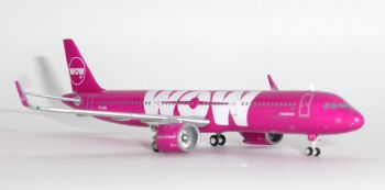 Airbus A321 NEO Wow Air Iceland Gemini Jets Model Scale 1:400 GJWOW1686 E